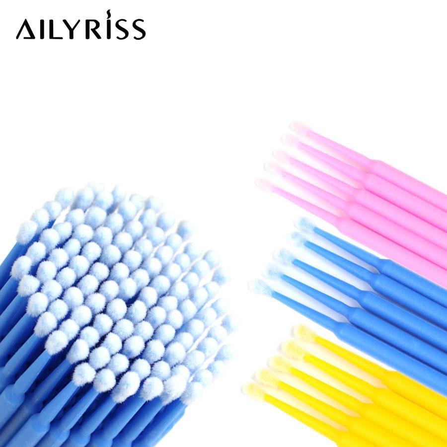 Disposable Makeup Brushes 1000pcs Durable Micro Brushes Applicators Mascara Brush For Eyelash Glue Cleaning Stick Removing Stick
