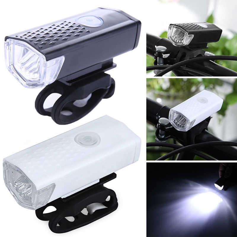 LED lampa przednia do roweru rower górski kierownica głowy światła latarka super jasna lampa latarnia na USB z akumulatorem 300 lumenów 3 tryby
