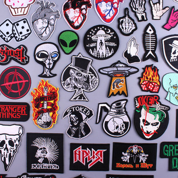 Pulaqi Hippie Rock Patches Music Band Patch Embroidered Iron On Patches For Clothes Stripes Patch Slogan Badge Sticker Applique hippie embroidered badge biker patches on clothes iron on patches for clothing punk rock back patch applique stripe for jacket