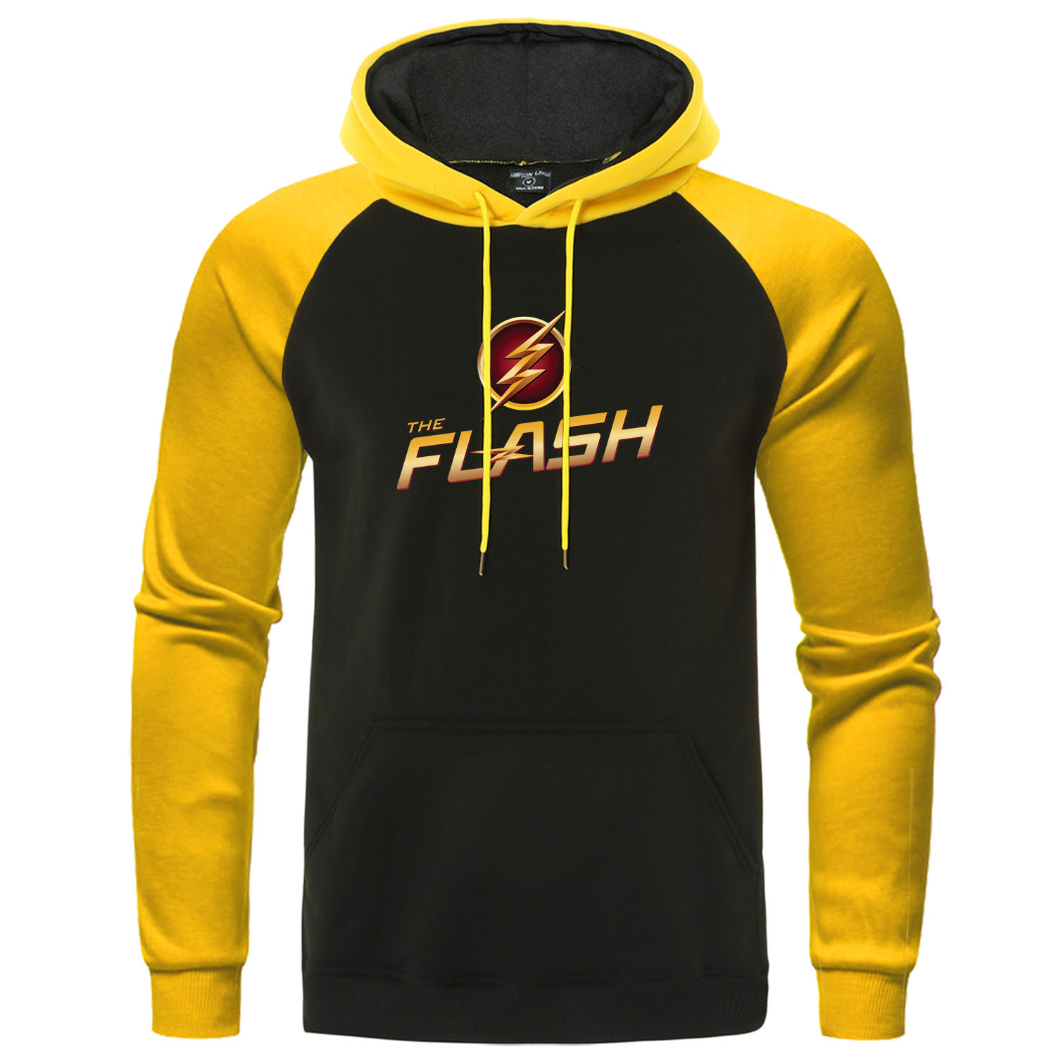 The Flash Print Men Hoodies The BIG BANG Theory Sweatshirt Raglan Casual Pullover Autumn Brand Men's Clothing Superhero Hoody