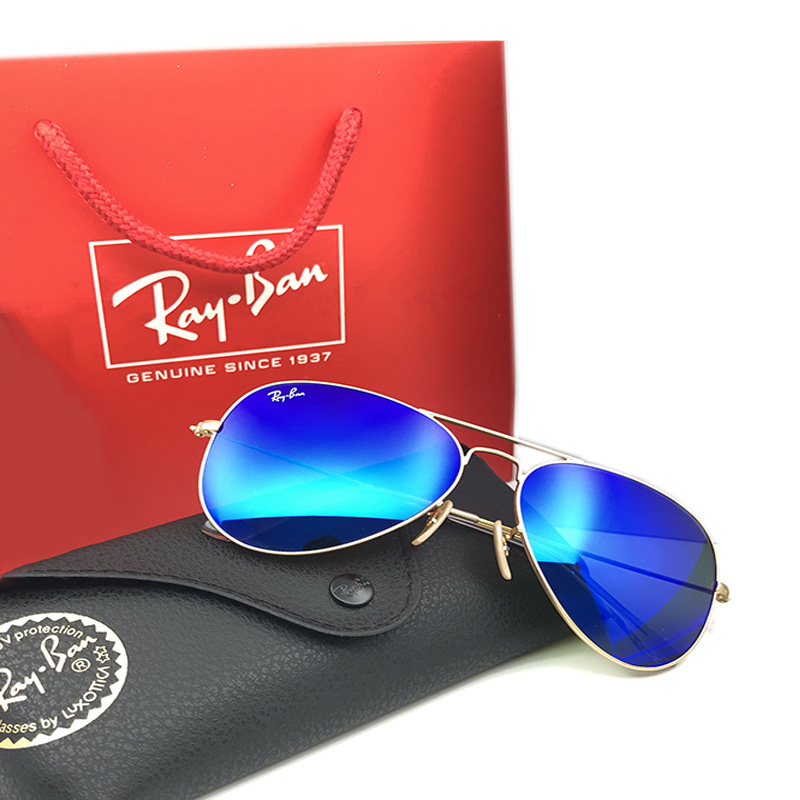 Rayban RB3025 Aviation Pilot Sunglasses Men And Women Polarized Mirror UV Fashion Classic Goggles For Driving Fishing Sunglasses