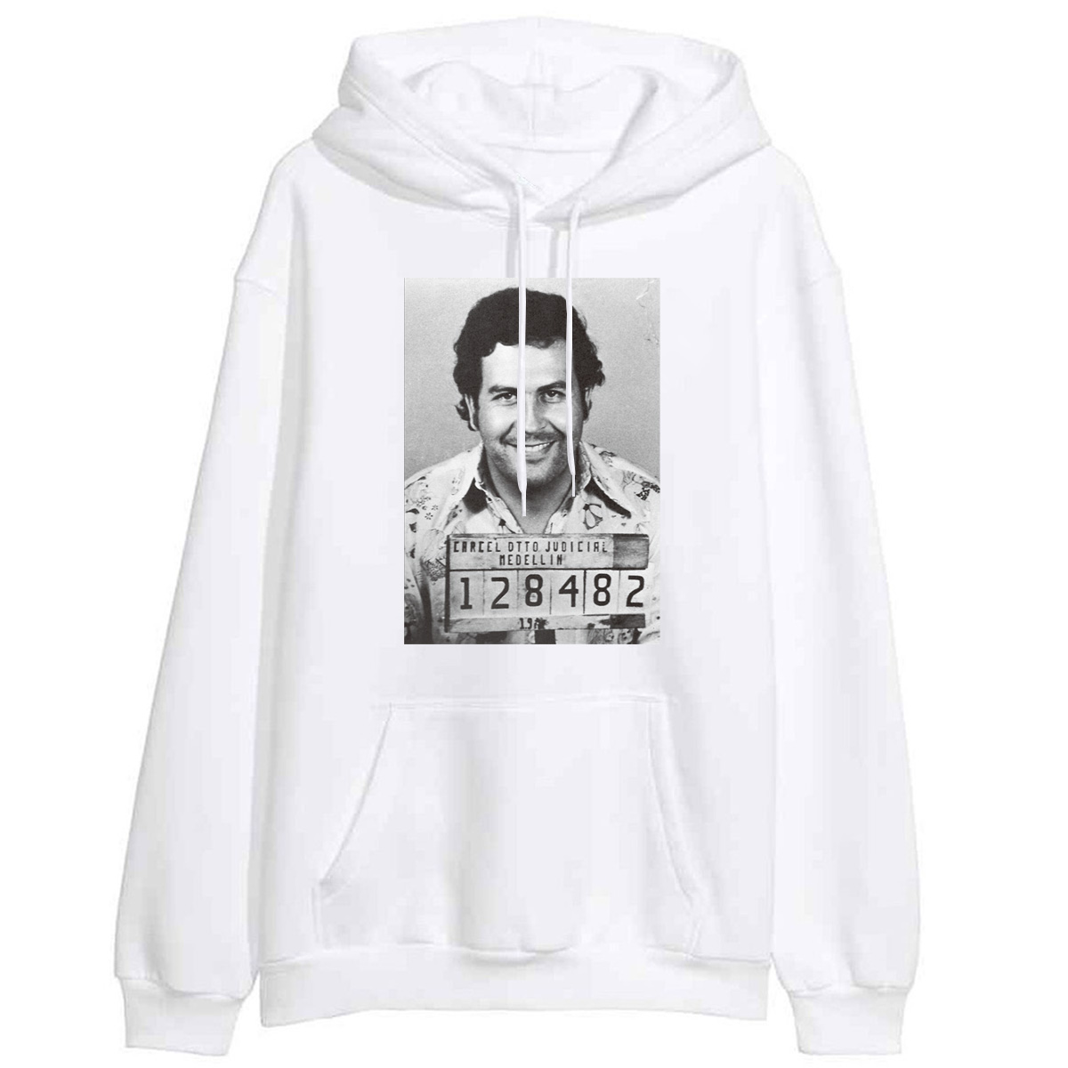 Black White Outwear Sweatshirts Women Fleece Pullover Pablo Escobar Drug Lord Cartel Money Print Lady Fashion Hipster Sportswear