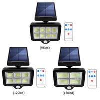 Solar Powered Motion Sensor Outdoor Wand Licht Wasserdichte LED Garten Park Beleuchtung Hof Veranda Zaun Auffahrt Straße Lampe