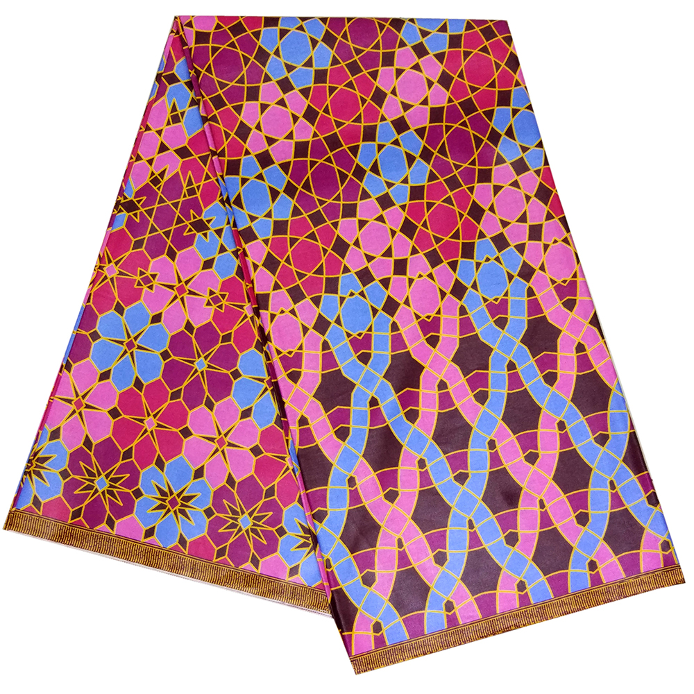 New Design Nigeria Fabric Ankara Real Wax Print African 6Yards Veritable Wax African Fabric For Wedding Dress