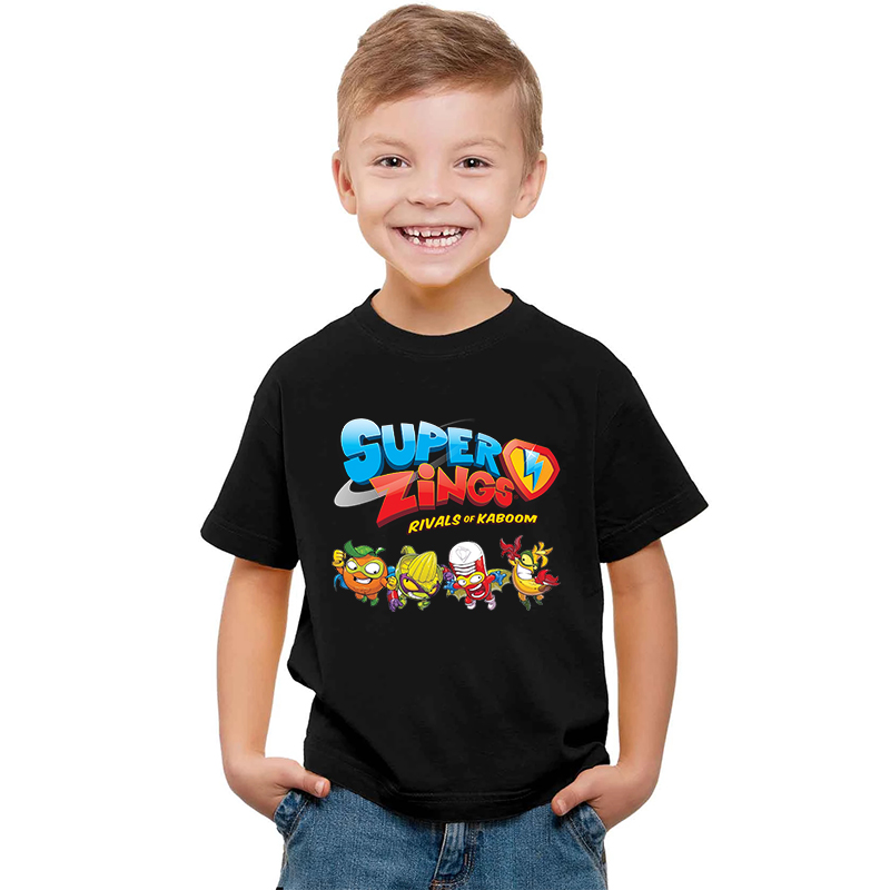 2020 Boys Summer TSHIRTS Super Zings Serie 4  T Shirt Baby Boy Tops Toddler Tees Kids Girl T Shirt Superzings Children T-shirts