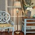 Европейский роскошный цветочный птичий Торшер для гостиной  спальни  прикроватная лампа  американский Ретро светодиодный расписной фонарь...