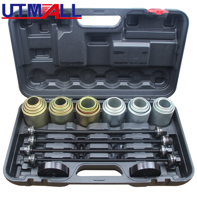 Car Disassembly Tool 26Pcs Car Universal Bush Bearing Removal Insertion Tools Set Press Pull Sleeve Kit Hand-held Removal Tool