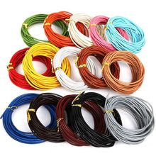 1.5/2/3mm Cord Wire 5M Genuine Leather Cords Round Rope String For Jewelry Making Bracelet Necklace Craft Accessories DIY