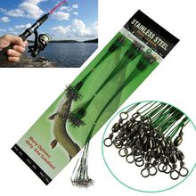 Hooks Pike-Card Traces Fishing-Wire-Line Safety-Snap 20pcs Swivels Lures Steel-Wires