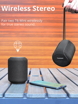 Tronsmart T6 Mini Bluetooth Speaker Wireless Portable Speaker TWS Speakers with IPX6, Voice Assistant, 24 Hours Play time 1