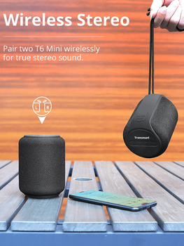 Tronsmart T6 Mini Bluetooth Speaker Wireless Portable Speaker TWS Speakers with IPX6, Voice Assistant, 24 Hours Play time