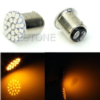 2020 New New 1157 BAY15D 22-LED 1206 SMD 7528 Brake Turn Signal Light Bulb Lamp Yellow image
