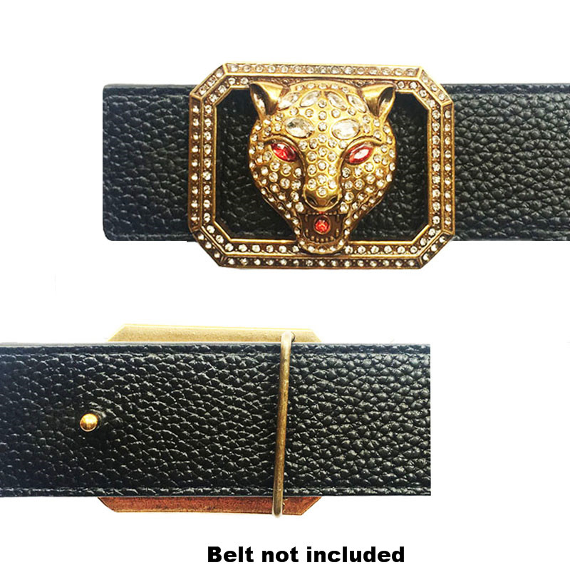Western Cowboy Dress Chinese Traditional Luxury Dragon Icon Buckle For Belt Solid Brass Metal Accessories For Men's Belts