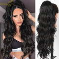 Женские удлиненные синтетические волосы AISI BEAUTY, длинные волнистые волосы с хвостиком на шнурке, черные, светлые, красные