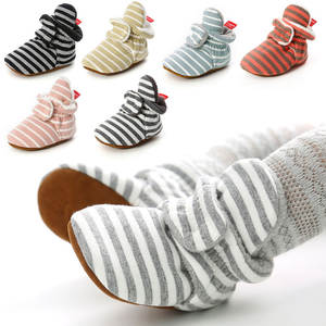 Socks Shoes First-Walkers Gingham Booties Anti-Slip Toddler Newborn Infant Girl Stripe