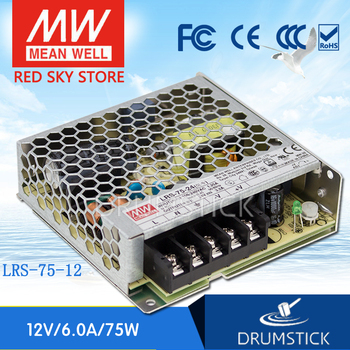 kindly MEAN WELL 6Pack LRS-75-12 12V 6A meanwell LRS-75 72W Single Output Switching Power Supply