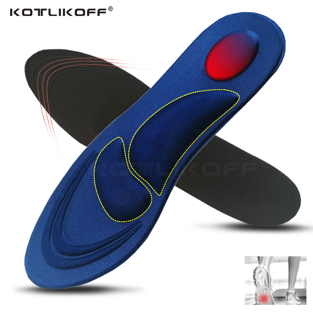 4D Sponge Stretch Breathable Deodorant Running Cushion Insoles For Feet Men Women Insoles For Shoes Sole Insert Orthopedic Pad