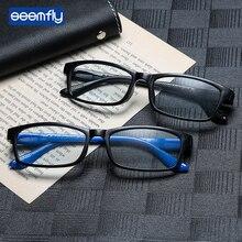 Seemfly Ultralight Reading Glasses Women Men  Clear View Anti Blue Rays Square Frame Eyeglasses Antifatigue Computer Eyewear