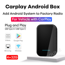 Caixa de ia carplay android sistema, carro multimídia player, plug and play, android 9.0 4g ram 32g rom gps wifi espelho-link telefone elenco