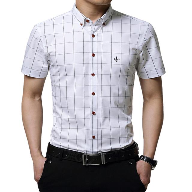Plaid Male Social Dudalina Short Sleeve