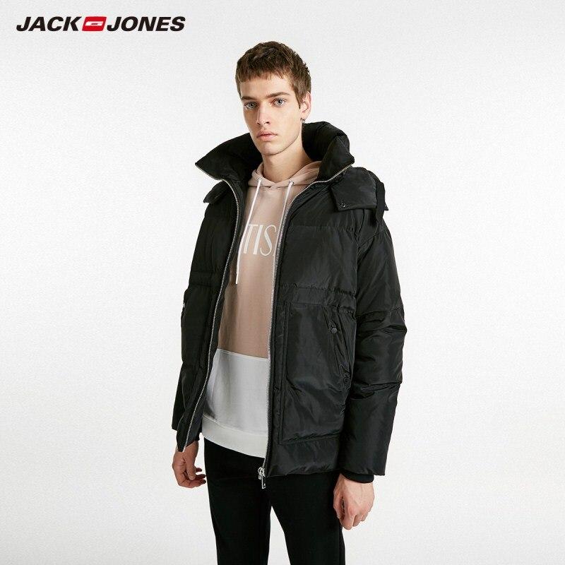 JackJones Men's Winter Hooded Stand Collar Short Style Down Jacket 218412516