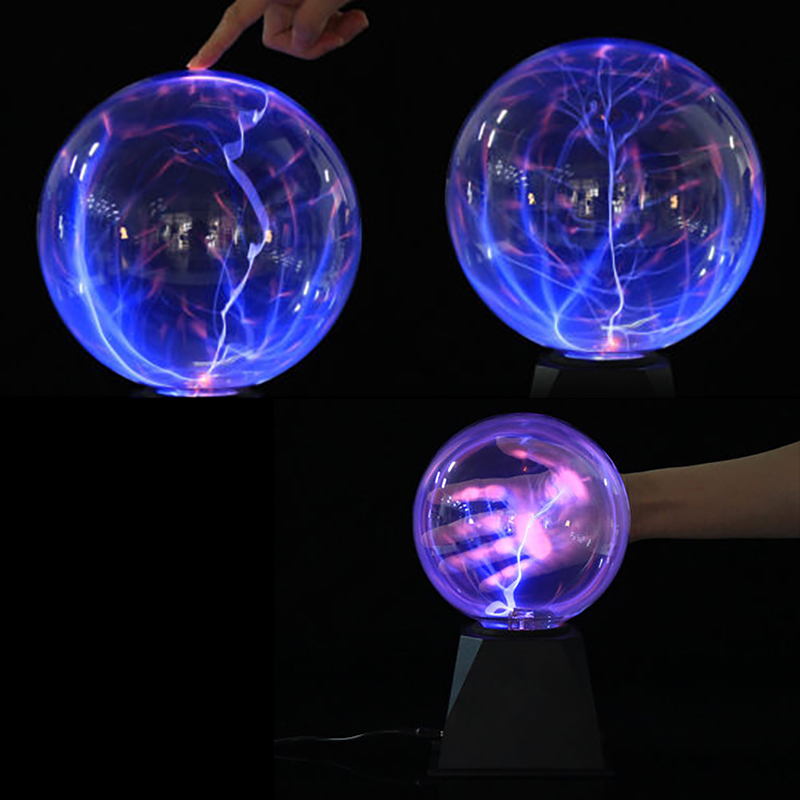 Crystal Plasma Ball Night Light Magic Glass Sphere Novelty Lightning Ball Plasma Table Levitating Lamp Lifesmart 6 Inch 8 Inch