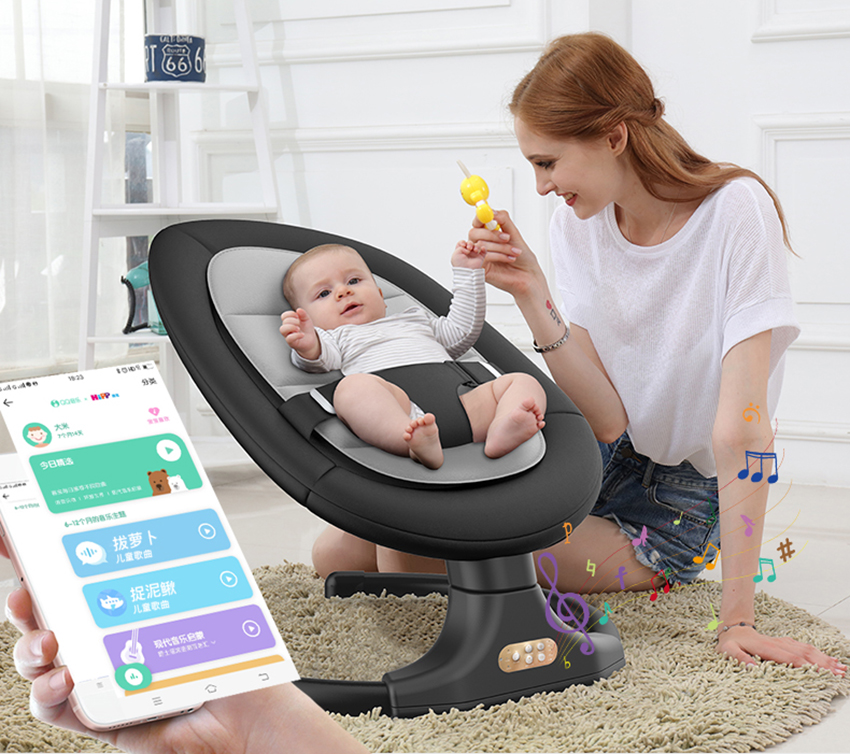 Baby rocking chair newborn baby shaker baby electric cradle with baby to sleep recliner comforter