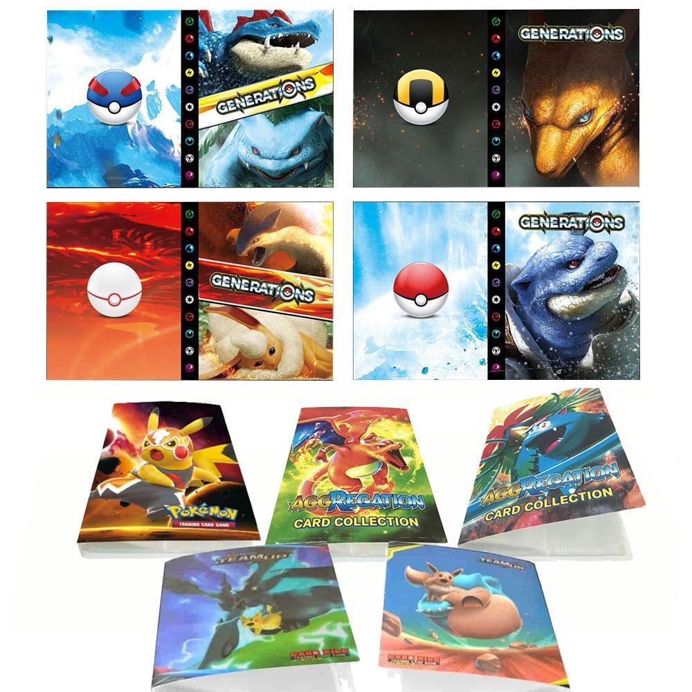 240Pcs Pokemon Kaarten Album Boek Cartoon Anime Game Card Ex Gx Verzamelaars Geladen Lijst Bindmiddel Map Houder Capaciteit Spee