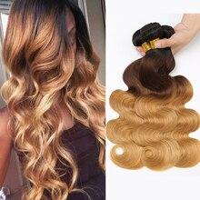 Ombre Hair Bundles Body Wave Bundles T1B/4/27 Brazilian Hair