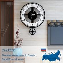 2020 Large Wall Clock Modern Design Clocks Home Quartz Hanging Silent Pendulum watch Home Decor Kitchen Wall Watch Free Shipment