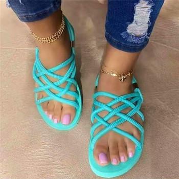 Damskie odkryte kapcie plażowe 2021 nowych kobiet wiosna lato o połowę pas miękkie antypoślizgowe sandały wsuwane podeszwa z pianki trwałe sandały tanie i dobre opinie NoEnName_Null SYNTETYCZNE CN (pochodzenie) Niska (1 cm-3 cm) 0-3 cm Na co dzień GLADIATORKI Płaskie z Otwarta Dobrze pasuje do rozmiaru wybierz swój normalny rozmiar