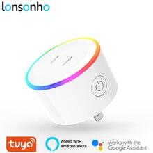 Lonsonho Japan Wifi Smart Plug Smart Socket with Scene Light Tuya Smart Life APP Works With Alexa Google Home