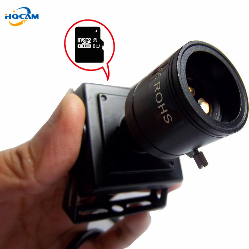 HQCAM 5MP 3MP 2MP Audio SD TF Card Mini IP Camera Home Security Coor CCTV 9-22mm Manual Zoom Lens Square Miniature Camhi App