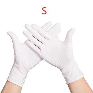 Image 3 - 100 sztuk wodoodporne jednorazowe mycie czyszczenie rękawice nitrylowe rękawice ochronne X6HB
