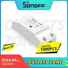Sonoff Basic R2 Wifi bricolage commutateur à distance sans fil intelligent scène intelligente contrôle vocal via Alexa Google Home contrôlé via l'application eWeLink