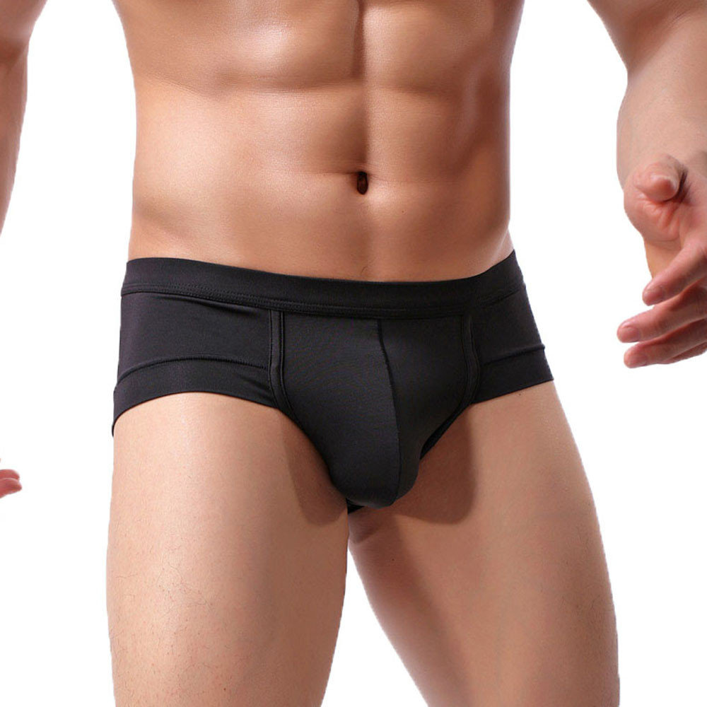 Men's Underwear Solid Color Mesh Breathable Low Waist Lifting Buttocks U-pouch Bag Push Up Sexy Men's Briefs Underwear Pant