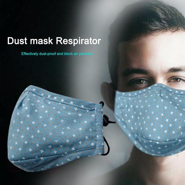 Cotton PM2.5 Blue Mouth Mask Anti Dust Mask Activated Carbon Filter Windproof Mouth-muffle Bacteria Proof Flu Riding Masks