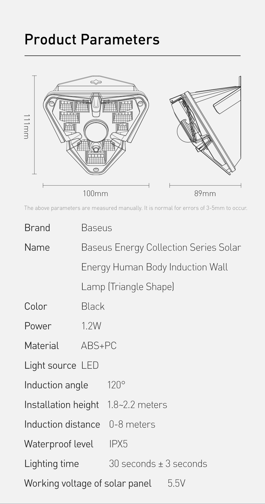 Baseus Outdoor Waterproof LED Solar Light With Motion Sensor 18 Baseus Outdoor Waterproof LED Solar Light With Motion Sensor Love Me Some Gadgets