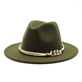 Black/white Wide Brim Simple Church Derby Top Hat Panama Solid Felt Fedoras Hat for Men Women artificial wool Blend Jazz Cap 9