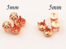 Круглые гвоздики цвета розового золота для ювелирных изделий
