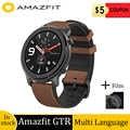 Globale version amazfit GTR 47mm smart watch mit GPS 24-Tage batterie lebensdauer sport uhr 5ATM wasserdichte Swimmingwatch