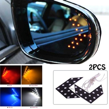 2Pcs Car Rearview Mirror Turn Signal Side Rear View Mirror 14-SMD LED Lamp Turn Signal Light Car Accessories Kit Auto Product image