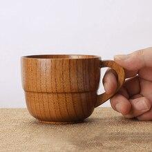185 мл Дерево ююба чашка с ушной ручкой деревянная креативная чашка Двойная Японская чаша для чая