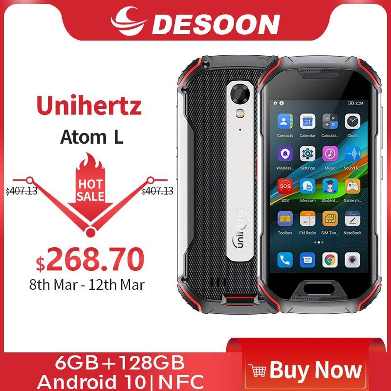 Unihertz atom l 6gb + 128gb, smartphone desbloqueado áspero android 10 rápido que carrega a câmera de 48 mp 4300mah impressão digital dupla sim nfc Celulares    -