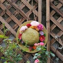 Schmücken Hof Landschaftsbau Ornament Originalität Gartenarbeit Ornament Simulation Stroh Hut Vogel Nest Schmücken Anhänger