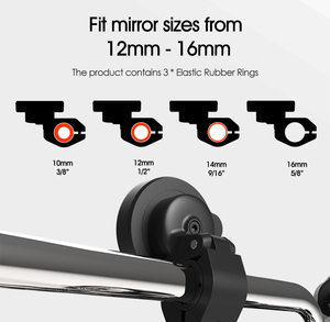 Image 2 - Universal mount Handlebar Rear view Mirror Mount Clip Bracket for Mobile Cell Phone,Motorcycle Bicycle Electric vehicles holder