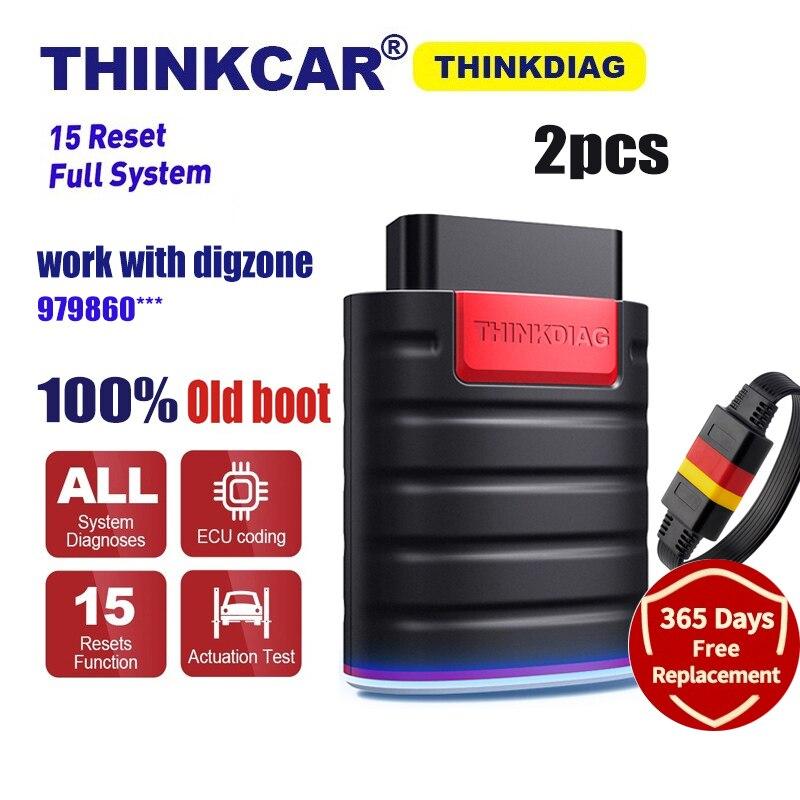 2 шт./лот старых ботинок Thinkdiag Diagzone автомобиля читатель Кода OBDII старая версия старой чип полная система Авто Bluetooth сканер