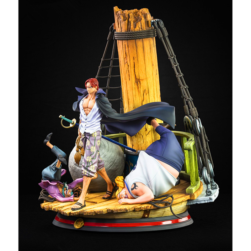 Anime One Piece Shanks Four Emperors Red Hair The Top War Action Figure Boxed