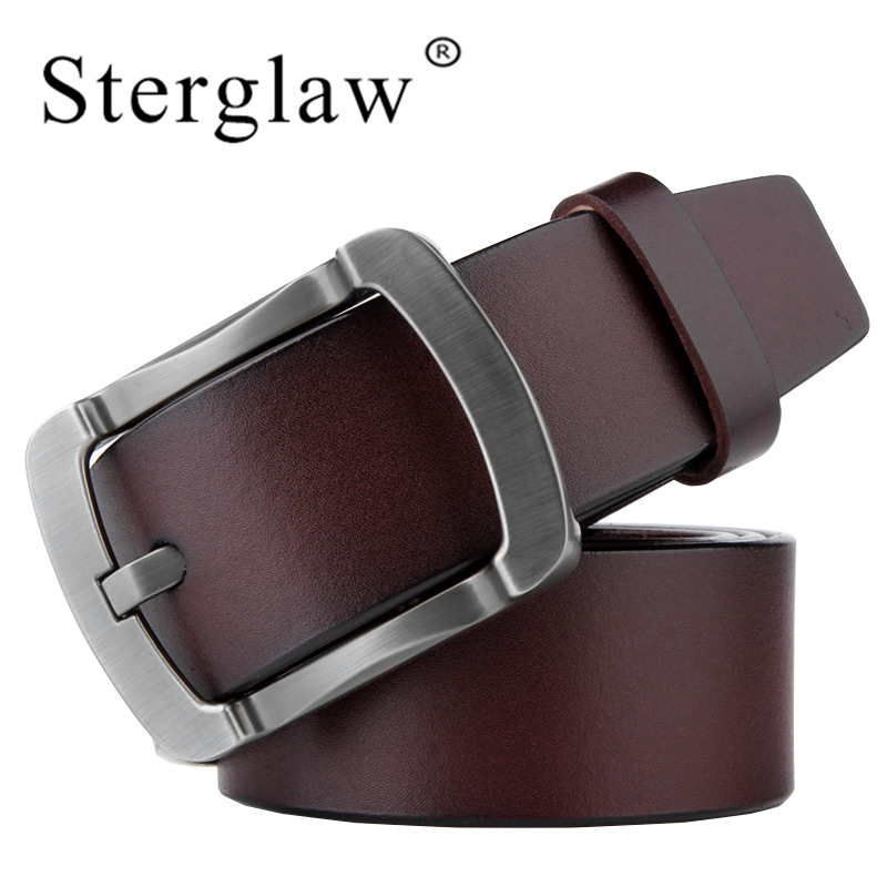 110-125*3.8CM New Man Belt Genuine Leather Male Belts Vintage Buckle Leather Belt Waistband For Men Christmas New Year Gift C117