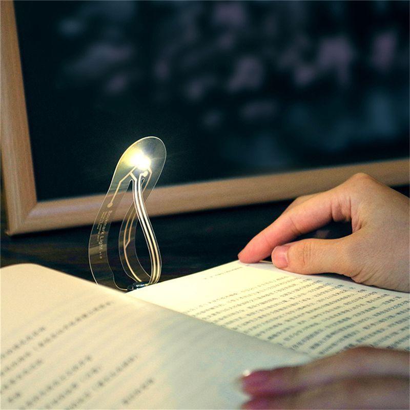 Ultra ince LED gece işığı imi hafif katlanır kavisli kitap ışık göz okuma lambası kitap okuma lambasi tinnest okuma lambası